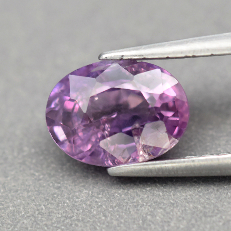 Genuine 100% Natural Purple Sapphire 1.43ct 7.2 x 5.3mm Oval SI1 Clarity