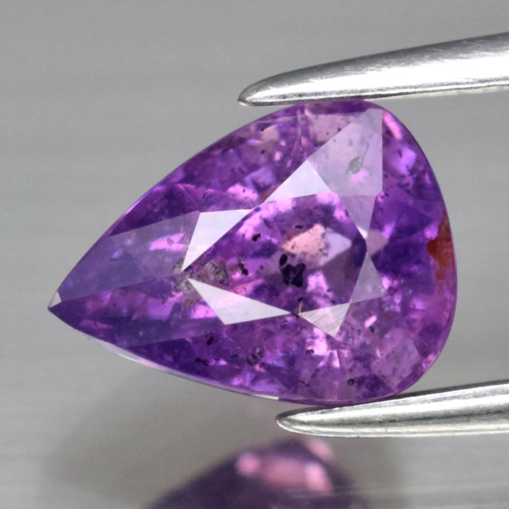 Genuine 100% Natural Purple Sapphire 1.93ct 8.2 x 6.0mm Pear SI2 Clarity