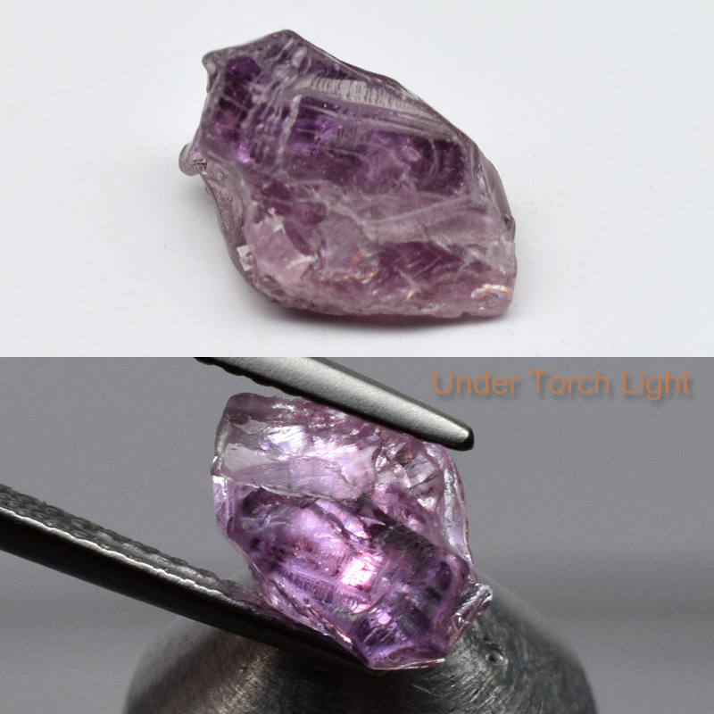 Genuine 100% Natural Purple Sapphire Rough 2.33ct 8.8x6.2x4.6mm Madagascar