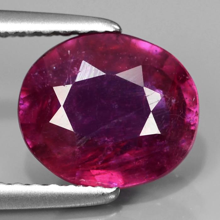 Genuine Purple Sapphire 2.36ct 8.7x7.5x3.8mm SI2 Madagascar