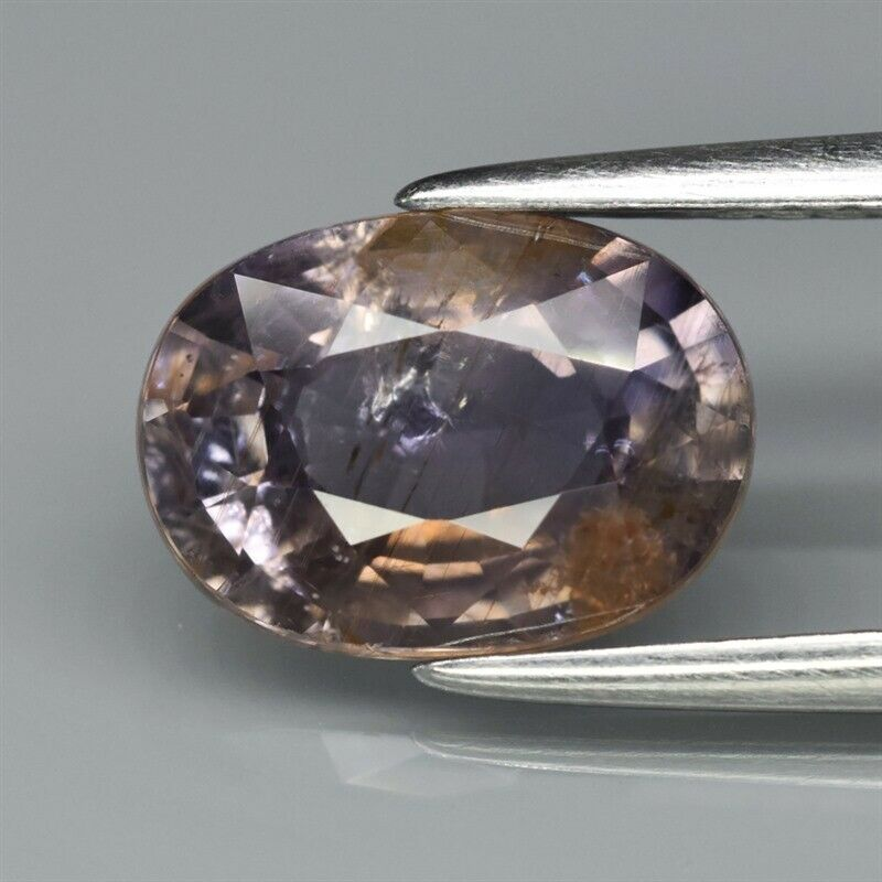 Genuine 100% Natural Purple & Brown Sapphire 2.53ct 9.3 x 6.6mm Oval SI Clarity