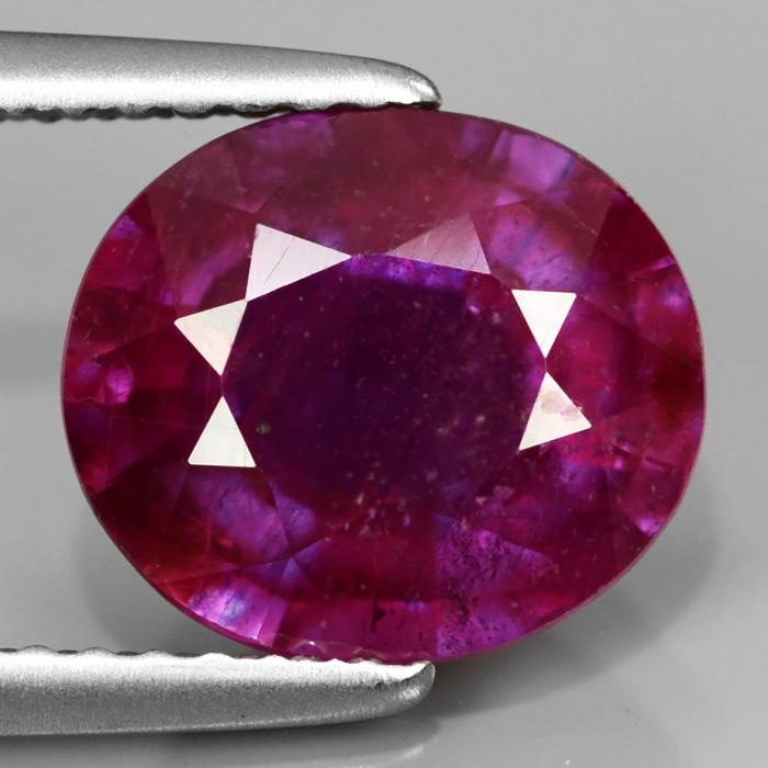 Genuine Purple Sapphire 3.29ct 9.3x8.0x4.9mm SI2 Madagascar