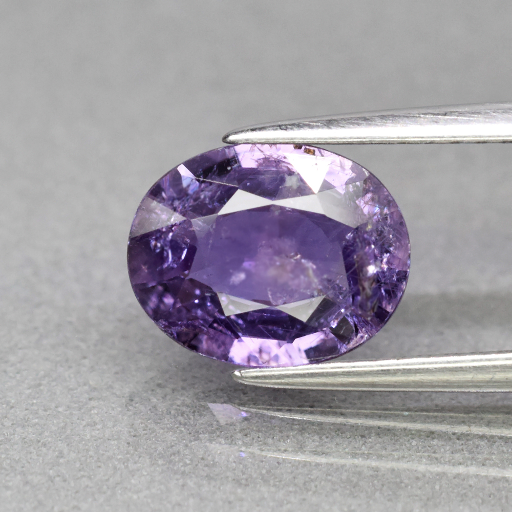 Genuine 100% Natural Purple Sapphire 1.99ct 9.2 x 7.3mm Oval SI1 Clarity