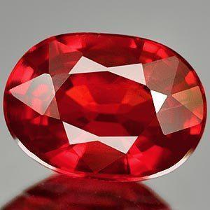 Genuine Red Sapphire .99ct 6.8 x 5.0 x 3.0mm Tanzania IF