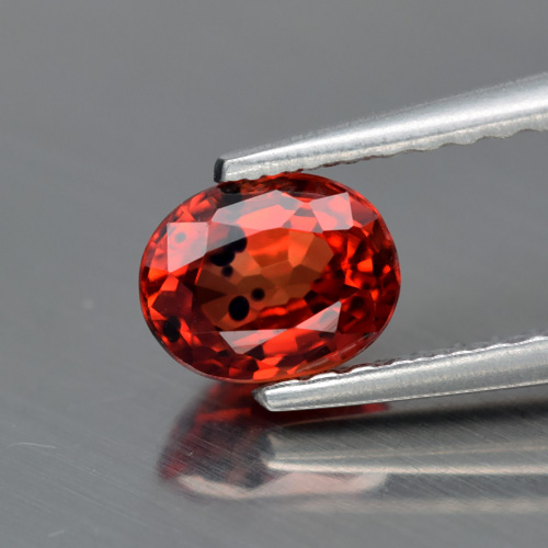 Genuine Reddish Orange Sapphire 0.85ct 5.5 x 4.5mm SI1 Tanzania
