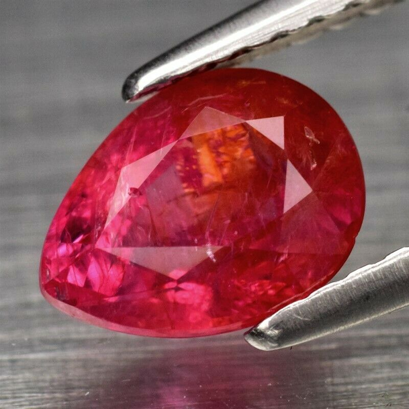 Genuine 100% Natural Red Sapphire 1.30ct 7.3 x 5.6mm Pear SI1 Clarity