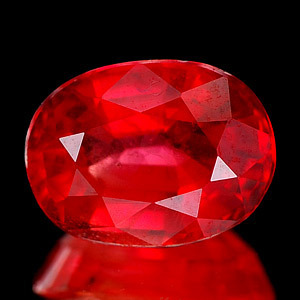 Genuine Red Sapphire 1.52ct 7.6 x 5.8 x 3.8mm SI