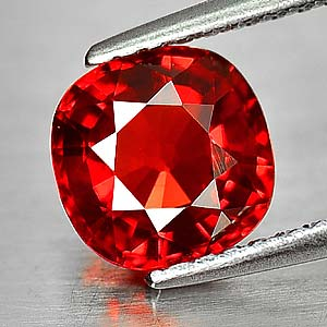 Genuine Red Sapphire 1.71ct 6.8 x 6.8m Cushion Cut IF Clarity (Certified)