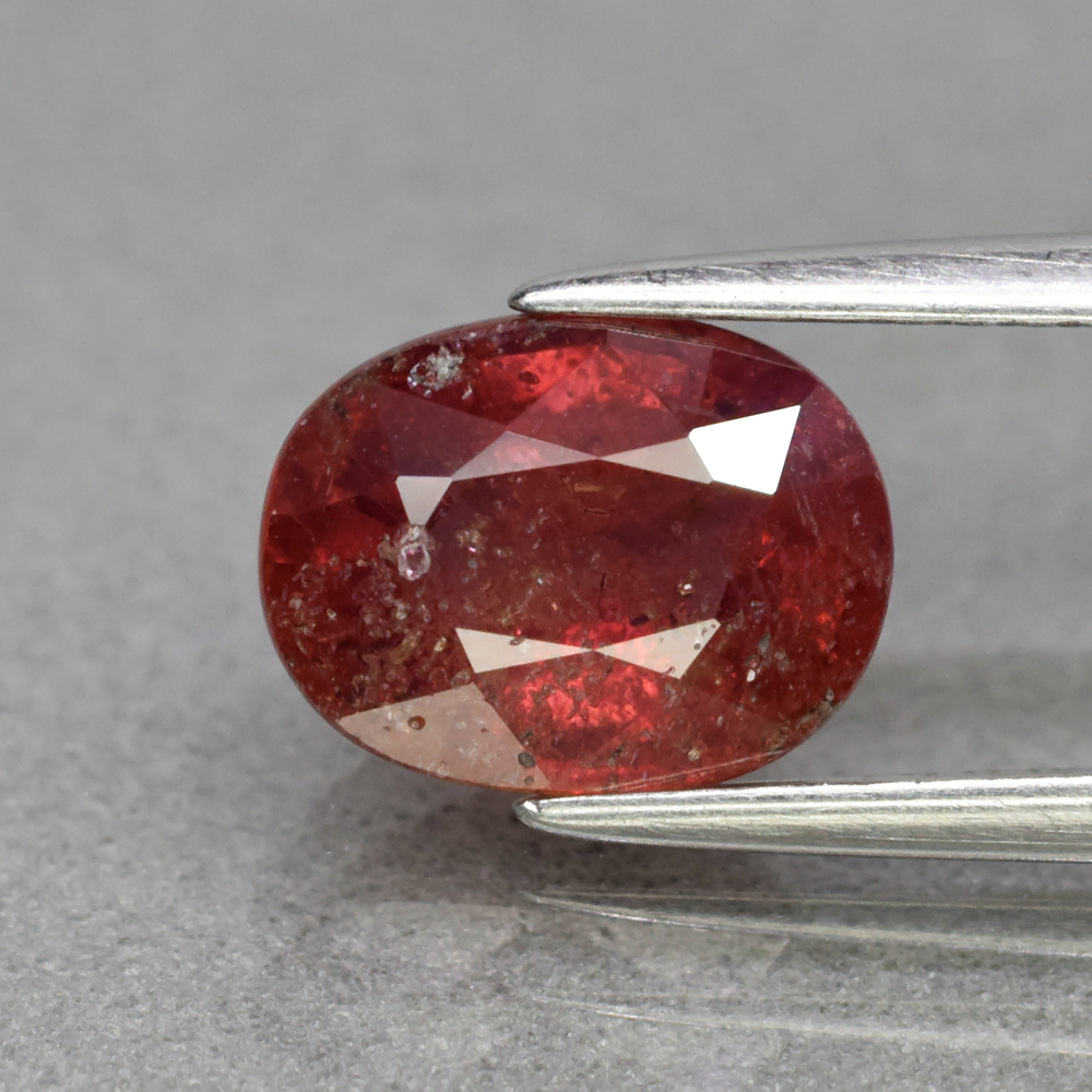 Genuine 100% Natural Red Sapphire 2.40ct 8.5 x 6.5mm Oval SI2 Clarity