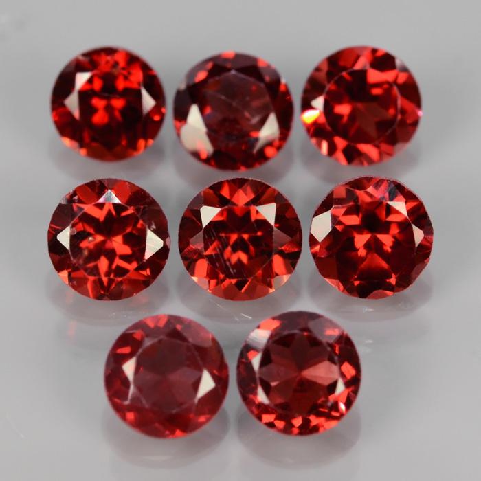 Genuine 100% Natural Rhodolite Garnet .60ct 5.0 x 5.0mm Round SI1 Clarity
