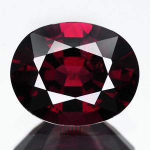 Genuine 100% Natural Rhodolite Garnet 3.47ct 10.2 x 8.2mm Oval VS1 Clarity