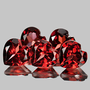 Genuine 100% Natural Rhodolite Garnet Hearts .80ct 6.0 x 6.0mm Heart VVS Clarity