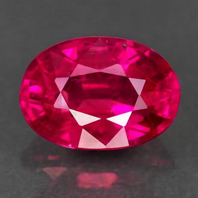 Genuine 100% Natural RUBY .65ct 5.8 x 4.1 x 2.9mm Oval
