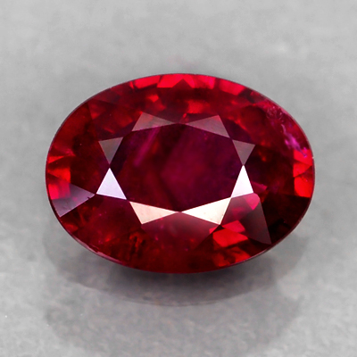 Genuine 100% Natural RUBY .83ct 6.8 x 5.0 x 2.7mm Oval (Certified)