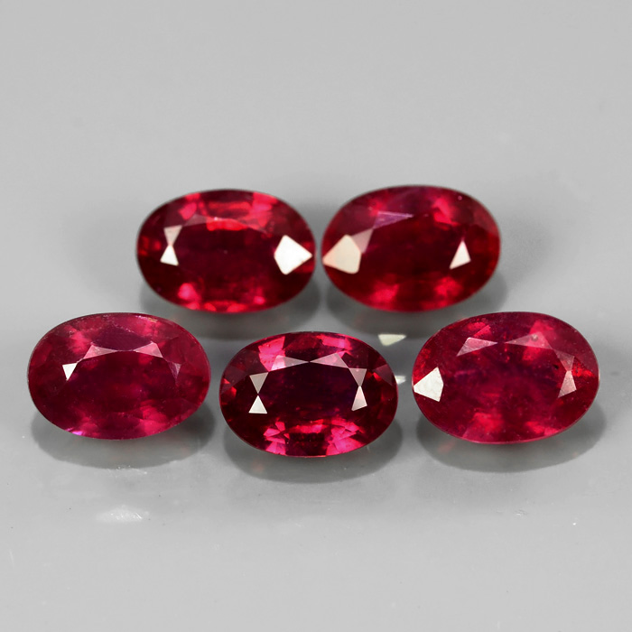 Genuine Ruby 0.65ct 5.9x4 SI2 Mozambique