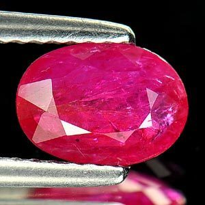 Genuine Ruby 1.00ct 7.9 x 5.7mm Oval SI1 Clarity