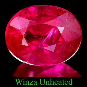 Genuine 100% Natural RUBY 1.17ct 6.8 x 5.4 x 3.7mm Oval (Certified)