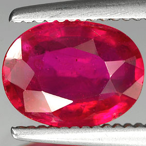 Genuine Ruby 1.37ct 8.0 x 6.0mm Mozambique SI1 5.7 x 4.1mm Thailand VS2