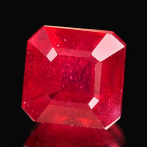 Genuine RUBY 1.57ct 6.7 x 6.5 x 4.4mm Square