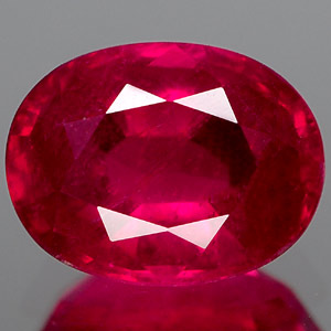 Genuine RUBY 1.68ct 8.1 x 6.1 x 3.8mm Oval
