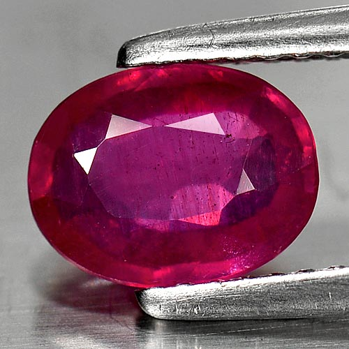 Genuine Ruby 1.68ct 8.2 x 6.2mm Oval VS1 Clarity
