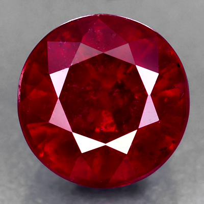 Genuine RUBY 1.73ct 6.0 x 5.0 x 4.6mm Round