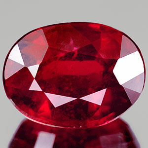 Genuine RUBY 1.76ct 8.0 x 6.0mm Oval SI2 Clarity