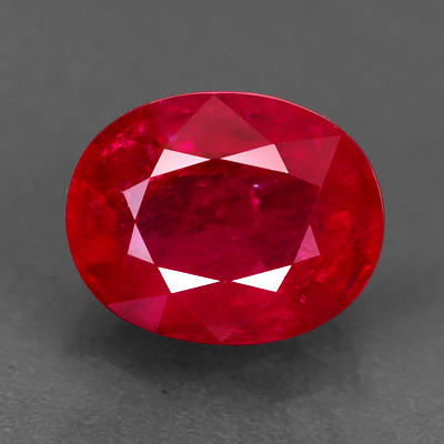 Genuine 100% Natural RUBY 1.82ct 8.0 x 6.3 x 4.0mm Oval (Certified)