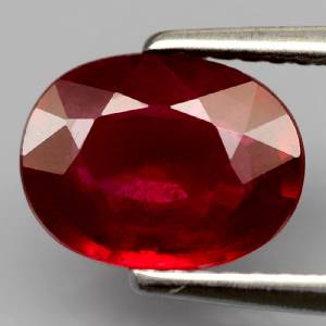 Genuine Ruby 1.88ct 9.0 x 6.8mm Oval SI Clarity