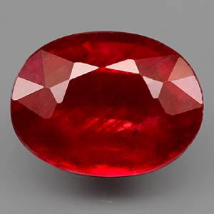 Genuine Ruby 1.91ct 8.1 x 6.1mm Oval SI Clarity