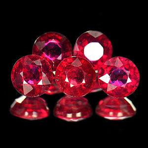 Genuine Rubies .42ct 4.4 x 4.4mm Round VSI Clarity