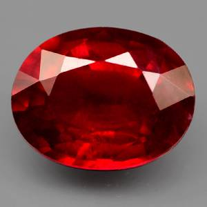 Genuine Ruby 2.26ct 8.8 x 6.9mm Oval SI Clarity