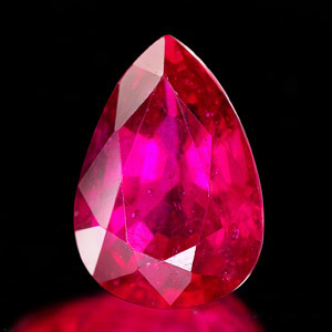 Genuine RUBY 2.27ct 9.5 x 6.8mm Pear SI1 Clarity