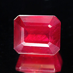 Genuine RUBY 2.61ct 7.6 x 6.3 x 4.6mm Octagon