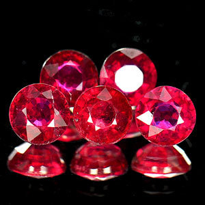 Genuine Rubies .59ct 4.8 x 4.8mm Round VSI Clarity