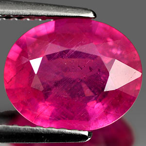 Genuine Ruby 3.05ct 10.0 x 8.2mm Oval VS1 Clarity