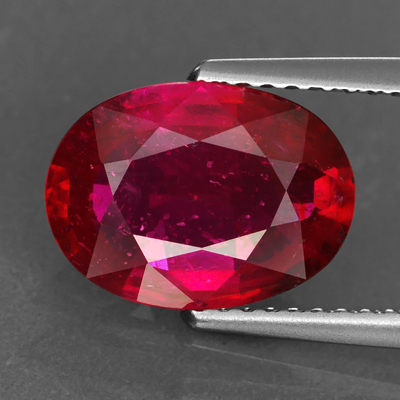 Genuine RUBY 3.52ct 9.3 x 7.8 x 5.2mm Oval