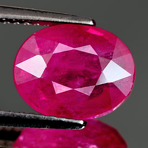 Genuine RUBY 3.88ct 10.4 x 8.2mm Oval SI1 Clarity