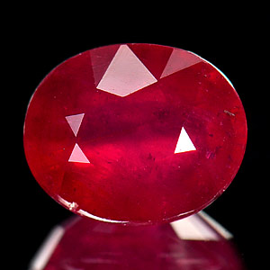 Genuine Ruby 4.07ct 9.8 x 8.0mm Oval VS1 Clarity
