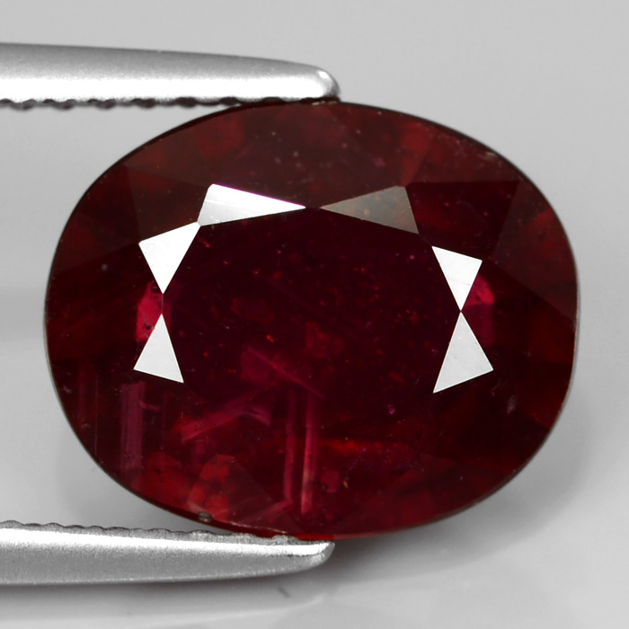 Genuine Ruby 4.33ct 11.0x9.0x4.6mm SI2 Madagascar