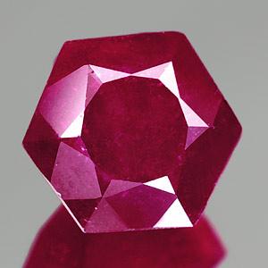 Genuine RUBY 4.91ct 10.2 x 9.0 x 6.5mm Hexagon