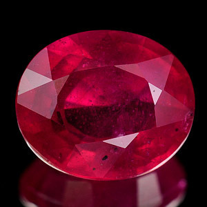 Genuine Ruby 4.92ct 10.8 x 9.0mm VS1
