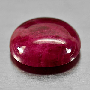 Genuine Cabochon Ruby 5.62ct 11.5 x 10.0mm Oval Opaque