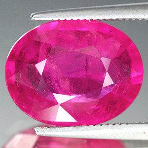 Genuine RUBY 5.69ct 13.0 x 10.0 x 4.7mm Oval