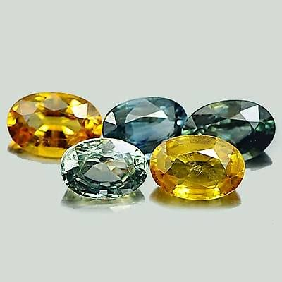 Genuine (5) Sapphires 3.16ct 5.8x4.2mm VS1 Tanzania