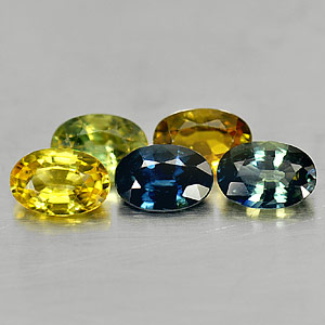 Genuine Sapphires 2.96cts 6.1 x 4.1mm Ovals VS1 Clarity 5 Piece Lot