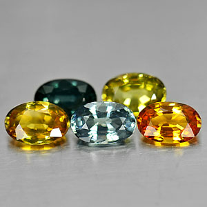 Genuine Sapphires 3.09cts 6.1 x 4.1mm Ovals VS1 Clarity 5 Piece Lot