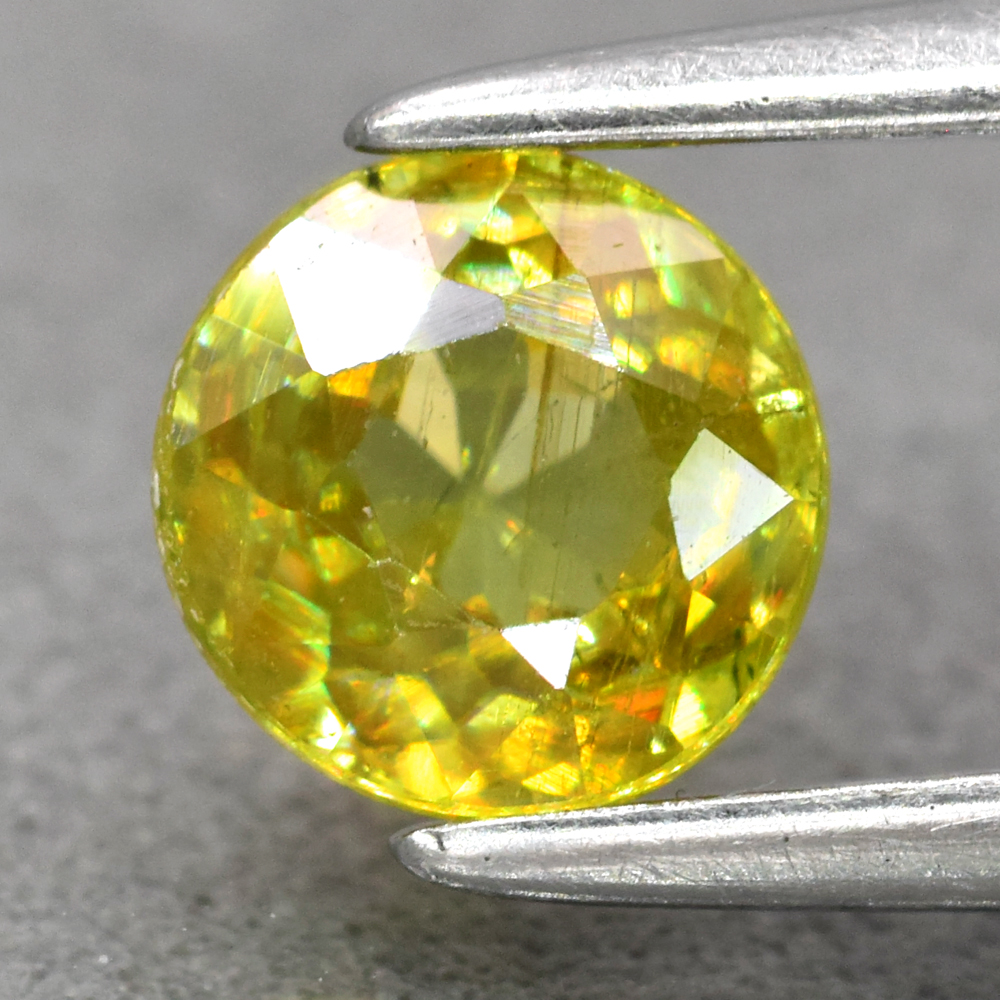 Genuine 100% Natural Sphene 0.54ct 5.0 x 5.0mm Round Cut SI1 Clarity