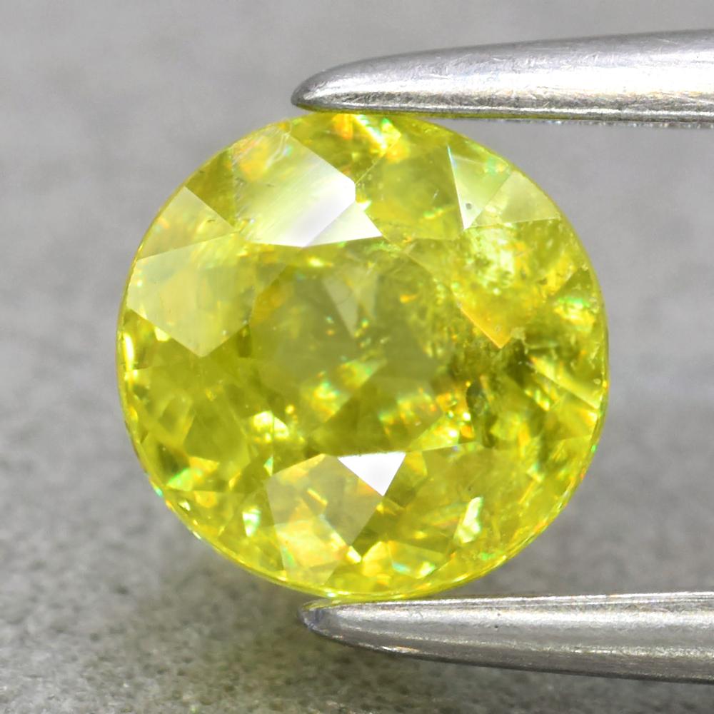 Genuine 100% Natural Sphene 0.73ct 6.4 x 6.2mm Round SI1 Clarity