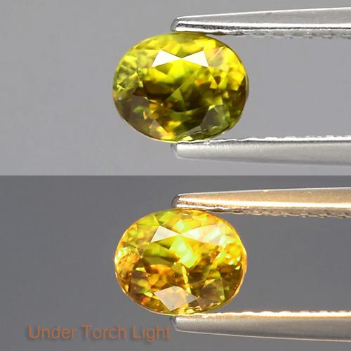 Genuine 100% Natural Sphene 0.93ct 6x4.8x4.1mm SI1 Madagascar